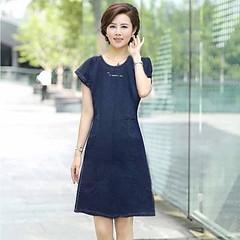 ชุดยีนส์สั้น คอกลมน่ารักมากแฟชั่นเกาหลีแขนสั้นมีกระเป๋าหน้า Denim Dress ส่งออก สีน้ำเงิน - พร้อมส่งTJ7700 ราคา950บาท โทรสั่งของกับ พี่โน๊ต/พี่เจี๊ยบ : 083-1797221, 086-3320788 LINE User ID : @lotusnoss และ lotusnoss.com เข้าชมและสั่งซื้อสินค้าได้ที่ : htt