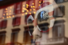 Shop window (franco indaco) Tags: milan reflection canon glasses mirror milano 5018 nopostprouction
