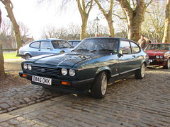 Ford Capri 280 D846OKK (Andrew 2.8i) Tags: bristol breakfast meet queen queens square avenue drivers club ford capri 280 brooklands classic car sports hatch coupe sportscar 28 cologne v6 injection all types transport