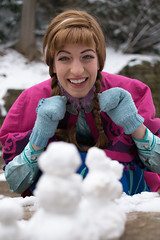 Anna at the Falls -2 (YGKphoto) Tags: park winter anna snow cold minnesota frozen costume cosplay outdoor minneapolis disney minnehaha