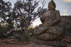 Buddha at the Amitabha Stupa (rileyj323) Tags: sunset arizona buddha stupa buddhist sedona amitabha