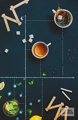Hot'n'Cold (Bring life to your space. Decor Products) Tags: summer food ice chalk lemon tea drink drawing geometry diversity graph fresh lemonade line sugar delicious temperature splash chalkboard topview cartesiancoordinates choiceofcoffee