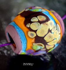 Zooey (Laura Blanck Openstudio) Tags: blue etched orange abstract green glass lines coral giant necklace beads big rocks colorful aqua european glow purple handmade eggplant turquoise stripes violet lavender plum funky jewelry charm holes odd pebble lilac earthy single mango huge periwinkle mauve opaque organic transparent wearable murano lampwork multicolor raku pendant matte whimsical nugget frit openstudio asymmetric ocher focal openstudiobeads