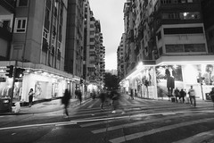 (Charthy_P) Tags: street city blackandwhite hk monochrome hongkong evening cityscape expression snapshot snap story slowshutter feelings iphoneography snapseed