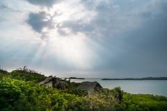 Bar, Colombia (R.Halfpaap) Tags: sun clouds evening colombia mood fuji rays cartagena baru sunray