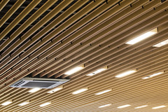 Architecture close up (Hunter Douglas Architectural) Tags: wood up architecture close v100 interior ceiling architectural inspirational printed ceilings aluminium architectuur inspiratie architekten hunterdouglas