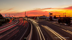 West Gate Freeway traffic, Melbourne (trevorjphotography) Tags: road longexposure bridge pink sunset motion cars landscape highway fast australia melbourne victoria busy lighttrails carlights goldenhour motiontrails westgatefreeway canoneos600d efs1855mmf3556isii