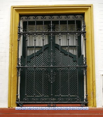 Sville, Andalousie (Marie-Hlne Cingal) Tags: espaa window ventana sevilla andaluca iron finestra janela espagne fentre sville fer andalousie