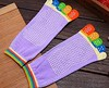 Colorful Five Finger Toe Yoga Anti Skid Slip Socks Deodorant Breathable (Adiovith) Tags: socks yoga colorful toe five finger slip anti deodorant skid breathable