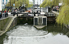 by the canal (rosipaw) Tags: london boat canal spring camdenlock flowingwater 52in2016