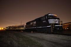 Night Horse Light Up (Matt_Schimmel) Tags: night train illinois ns decatur fra rebuilt norfolksouthern emd sd60e