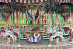 Carousel 1899 Plaswijck Rotterdam 3D (wim hoppenbrouwers) Tags: 3d rotterdam carousel anaglyph stereo merrygoround draaimolen 1899 plaswijckpark redcyan plaswijck