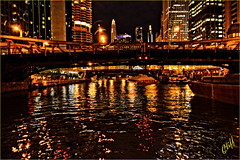 clarke bridge Chicago (cliffhope73) Tags: chicago buildings river nikon nighttime brilliant cliffhope