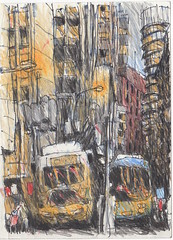 Phillip St - Sydney (Peter Rush - drawings) Tags: colour st pencil sketch drawing sydney australia nsw phillip colourpencil colorpencil peterrush urbansketchers