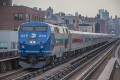 To Poughkeepsie and Beyond (Nick Gagliardi) Tags: street new york city nyc railroad electric train general diesel metro harlem manhattan north trains ge metronorth 125 bombardier 125th mncr p32acdm
