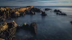 Sunken Treasure (Augmented Reality Images (Getty Contributor)) Tags: longexposure morning light shadow water sunrise canon landscape dawn scotland spring rocks waves aberdeenshire harbour tide bluesky seawall sandend leefilters