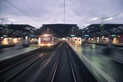the race (Toni_V) Tags: motion blur station train schweiz switzerland movement europe suisse zurich perspective bahnhof rangefinder sbb hauptbahnhof mp zrich svizzera mainstation ffs 2016 cff svizra summiluxm leicam niksoftware 35lux messsucher 35mmf14asphfle 160326 typ240 analogefexpro2 toniv m2404160