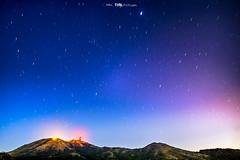 night sky (LingHK) Tags: longexposure sky mountains nature night stars landscape hongkong lights star trails peak hike
