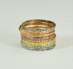 Bohemian Stacking Ri (alaridesign) Tags: by bronze gold rustic tribal ring rings sterling stacking boho brass zigzag bohemian alaridesign ringa19