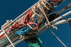 """Don't get all """"Knotickle"""" on me (paulstewart991) Tags: sailboat sailing harbour georgianbay rope canadian mast knots canon70d"""