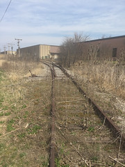 Tom Burke Photo Former PItney Bowes Spur Brown Deer WI April 20 2016 #2 (middlewest1) Tags: railroad switch spur milwaukee teasel wi wsor milwaukeeroad pitneybowes browndeer milwaukeenorthern milwaukeeelectric