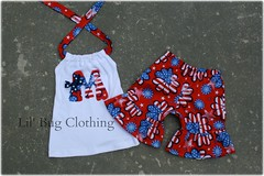July 2 (Lil' Bug Clothing) Tags: girls outfit flag 4th july short halter of