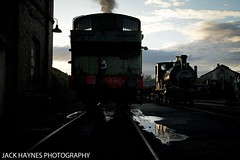 The sun sets on Didcot. (Jack Haynes Photography) Tags: heritage train photography events centre great railway steam western timeline british locomotive didcot oxfordshire charter preservation 1450