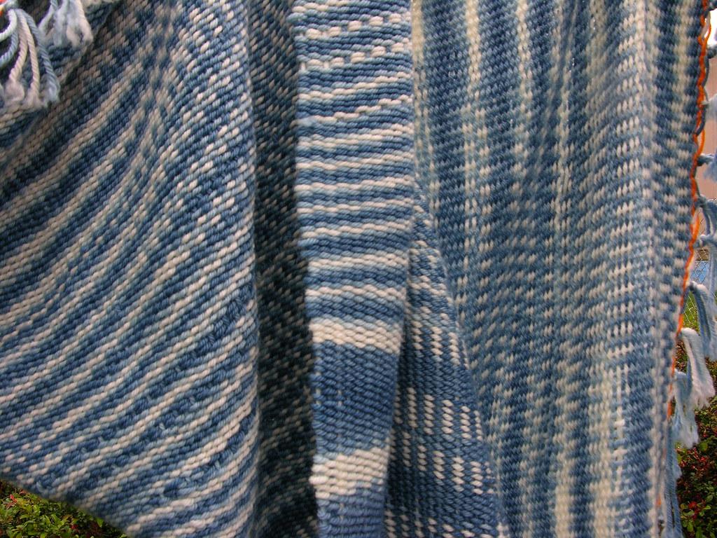 fc32658b798 Handwoven throw (sandySTC) Tags  wool superwash indigo blanket afghan andes  ashford weave throw