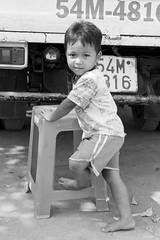 (kuuan) Tags: boy bw kid village play vietnam vilage