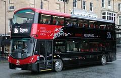 Transdev Harrogate & District 3616 BL65YYO heads out of Harrogate with a Ripon bound 36 service. (Gobbiner) Tags: volvo leeds wright 36 ripon 3616 transdev harrogatedistrict gemini3 b5tl bl65yyo ridingredefined