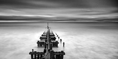 Groyne (petefoto) Tags: winter clouds timber norfolk groyne breakwater seadefence overstrand leefilters nikond810 bwfiltersnd110