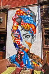 NYC Little Italy - Audrey Hepburn (lukedrich_photography) Tags: new york city nyc newyorkcity usa streetart ny newyork abstract color brick art america canon star us artwork mural artist audreyhepburn unitedstates metro manhattan vibrant unitedstatesofamerica pop neighborhood actress moviestar northamerica metropolis gotham littleitaly bigapple metropolitan estadosunidos nuevayork eyecatching mulberrystreet tristaneaton newamsterdam italianamerican  megacity tatsunis  thecitythatneversleeps vereinigtestaaten thecapitaloftheworld empirecity        t1i canont1i lavilledenewyork  littleitalystreetart