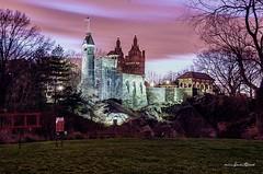Belvedere Castle Central Park, New York City. (mitzgami) Tags: nyc newyorkcity longexposure nightphotography winter newyork landscape nikon flickr centralpark northamerica belvederecastle dlsr nikonphotography d7000 lazyshutter