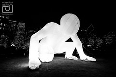 'Fantastic Planet' by Amanda Parer (#3) (VeRoNiK@ GR) Tags: winter light colour london beautiful festival night photography january canarywharf winterlights 2016 isleofdogs
