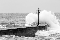 Porthleven Pier (David Canon) Tags: sea coast pier cornwall waves tide porthleven