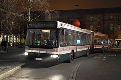 Strasbourg Artic 20/01/16 (MCW1987) Tags: night des renault l transports artic compagnie agora cts irisbus bodied 581 strasbourgeois 3160yn67
