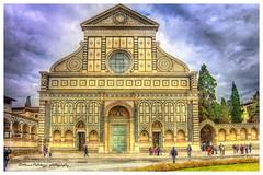 Basilica di Santa  maria Novella (Pistolozzi Marco) Tags: city italy florence basilica tuscany firenze architettura hdr citta santamarianovella photomatix canoneos700d