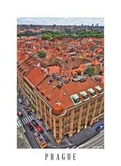 Prague (theAtanas) Tags: red building rooftop church beautiful st skyline gold europe republic czech prague roofs nicholas hdr magnificent