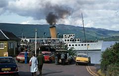 Luss Pier with 'Maid of the Loch' . Jun'81. (David Christie 14) Tags: lochlomond maidofthelochluss