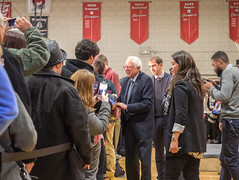 Bernie Sanders (John M Poltrack) Tags: rally crowd nh indoors politicians primary berniesanders feelthebern