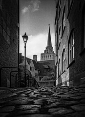 cobbled street Nuffield (ian7bray) Tags: blackandwhite oxford mayday