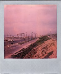 1972. (helioshamash) Tags: color film beach polaroid sx70 losangeles instant rv impossible colorshift dockweiler