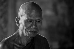 Cambodia 2015 (Marianne Zumbrunn) Tags: portrait blackandwhite bw nikon cambodia kambodscha monk buddhism depth 70200mm d610 nikond610