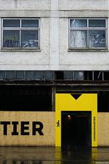 Yellow gate (Erik Schepers) Tags: street city windows industry netherlands glass yellow buildings maastricht industrial minimal minimalism recycle geel minimalistic sphinxkwartier
