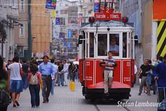 Istiklal Avenue (Stefan Lambauer) Tags: street trip turkey square platz tram istanbul praa rua taksim 2009 istambul turquia bonde tramvay stefanlambauer istiklalavenue istiklalcd