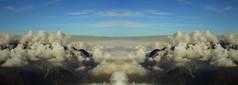 Panomirrow (kaaasch) Tags: sky panorama mountains alps landscape sterreich nikon hiking spiegel himmel wolken berge alpen aussicht landschaft wandern mirrow breit gespiegelt clouths d5100