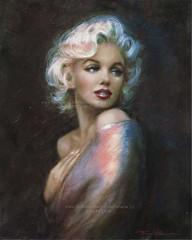 Marilyn WW blue (ARTbyAngieBraun) Tags: portrait woman art marilyn painting amazing artwork icon canvas gifts blond monroe posters prints mm theo norma ww diva jeane masterpiece celebraties danella wwwpvznet