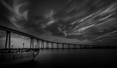 coronado bridge (efrainsalvadorjr) Tags: blackandwhite nature harbor coronado zenitar16mm coronadobridge sandiegoharbor sonyalpha blackandwhitepics blackandwhtiephotography sonya7r