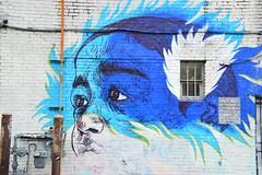 Blue flames (Krasivaya Liza) Tags: city atlanta urban art ga georgia graffiti artwork colorful cityscape atl funky gritty images eastatlanta urbangrit