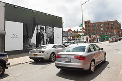 Armani Exchange (Colossal Media) Tags: fashion brooklyn advertising outdoor williamsburg ooh handpaint grayscale colossal armani highfashion armaniexchange streetlevel outdooradvertising colossalmedia b153 skyhighmurals alwayshandpaint kristalindahl